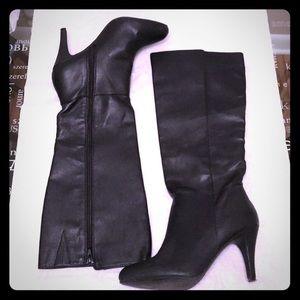 Express Black Heeled Boots